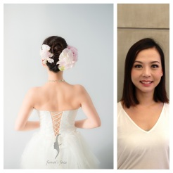 Classic Hair Updo with all back front hair A good style for girl with medium length hair~ 乾淨俐落簡潔高貴耐看造型 中度頭髮長度也沒問題 造型全是模特兒自己的頭髮啊