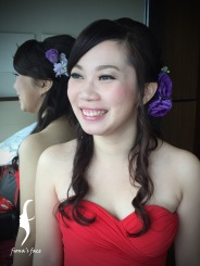 Jennifer, a girl wanted her bridal makeup as nude as possible!