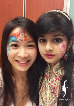 face painting for the ethnic minorities