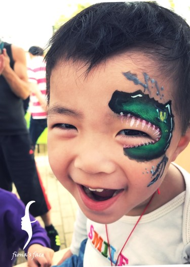 """Sharing happiness by fiona's face painting team in community event """"Sai Kung Art & About"""""""
