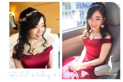 Wedding ceremony makeup & hairdo for Kiko from Malaysia